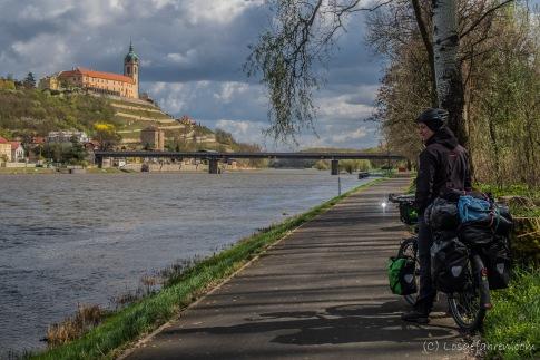 Schloss Mělník über der Elbe