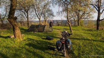 Camping in Jaceks Garten mit bestem Blick über die Beskiden