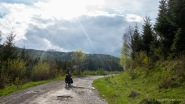 einsame Straße durch die Berge nach Kežmarok