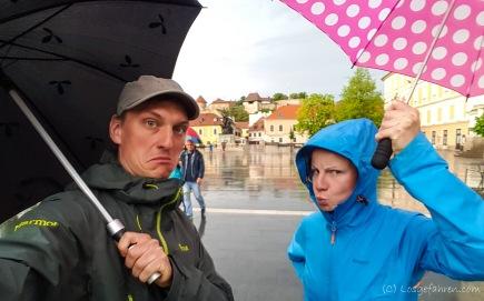 niemand will, dass es regnet!