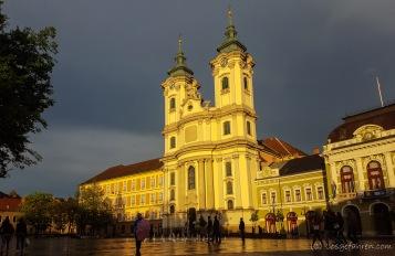 auf den Regen folgt Sonnenschein - Hauptplatz in Eger