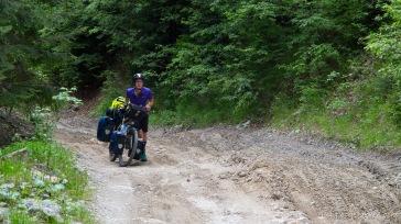 Harte Offroad-Piste - wir brauchen den ganzen Tag für 14 km ... (Querung des Lotrului- und Cindrel-Gebirges)