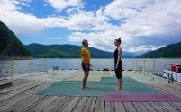 Dann wird eben Yoga gemacht (Foto: Holger Lieberenz' Kamera mit Jens am Auslöser ;-) )
