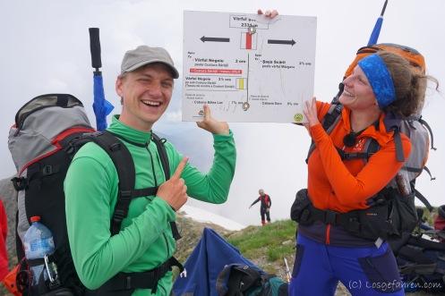 Der erste Gipfel! Șerbotă - 2331 m (Foto: Holger Lieberenz)