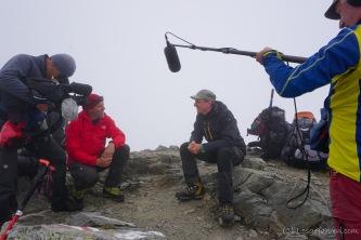 Gipfelinterview (Foto: Holger Lieberenz)