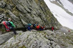 und immer wieder Kletterpassagen (Foto: Holger Lieberenz)