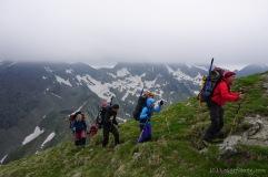 Heute: Berge ohne Spitzen. (Foto: Holger Lieberenz)