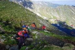 Wiederaufstieg zum Kamm vom Balea Lac (Foto: Holger Lieberenz)