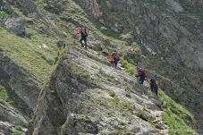 Spektakulärer Weg auf dem Grat (Foto: Holger Lieberenz)