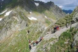Kletterpassage auf dem Weg zum Mircii-Gipfel (Foto: Holger Lieberenz)