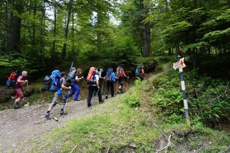 Die ersten Meter (Foto: Holger Lieberenz)
