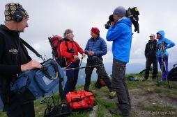 Gipfelinterview mit Meutz auf dem 2470 m hohen Mircii (Foto: Holger Lieberenz)