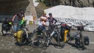 Reiseradlertreffen auf der Südseite der Transfagarasan mit Piotr aus Polen. Er umrundet mal eben Rumänien. Echt cooler Typ!