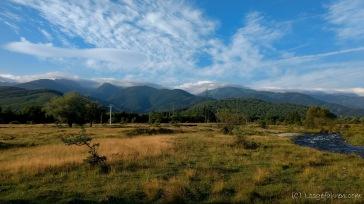 Blick aus dem Zelt - Fagaras-Gebirge