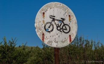 Fahrradverbote erfreuen sich hier offenbar keiner besonderen Beliebtheit. Liebe Eltern: Es geht uns gut! :-) - Bulgarien