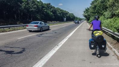 Auf der Autobahn verlassen wir Varna, Bulgarien
