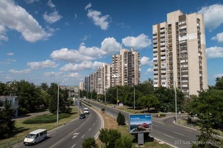 Wohntürme begrüßen uns in Burgas, Bulgarien