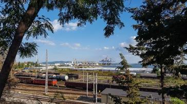 Riesiger Hafen und Hafenbahnhof - Burgas, Bulgarien