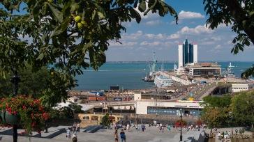 Potemkinsche Treppe und Hafen - Odessa, Ukraine