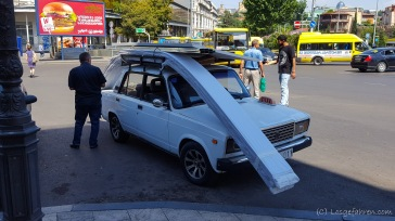 Taxi mit Dachgepäckträger, was sonst?! - Tbilisi