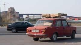 Transport von Waren und Gütern... Der Innenraum ist schon gut genutzt, aber außen sind noch Reserven.