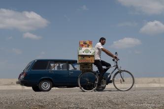 Transport von Waren und Gütern - hier mal auf dem Rad