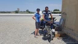 Jeder ist interessiert an unseren Rädern. Und am liebsten wollen alle mal damit fahren :-)