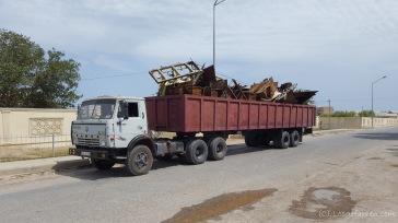 Transport von Waren und Gütern - Schrottkarre
