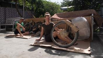 Räder zusammenbauen