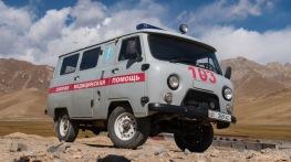 """ein """"russisches Kastenbrot"""" als Krankenauto, Sary Tash"""
