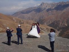 Hochzeitsbilder auf dem Taldik-Pass