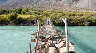 erneut eine abenteuerliche Flussquerungsmöglichkeit.