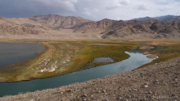 Alichur-Fluss-Delta an der Mündung in den Yashilkul