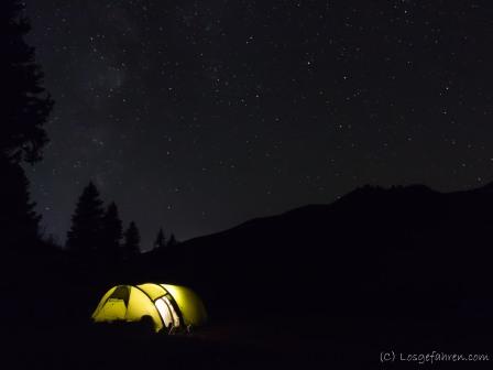 Zelten unterm Sternenmeer