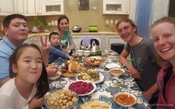 Abendessen bei Amir und seiner Familie
