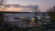 der Sturm hat sich gelegt. Abendstimmung am großen Wannsee