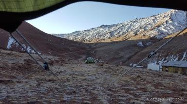 Blick aus dem Fenster (No-Mans-Land zwischen Tadschikistan und Kirgistan)