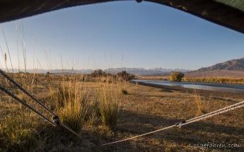 Blick aus dem Fenster (Kirgistan)